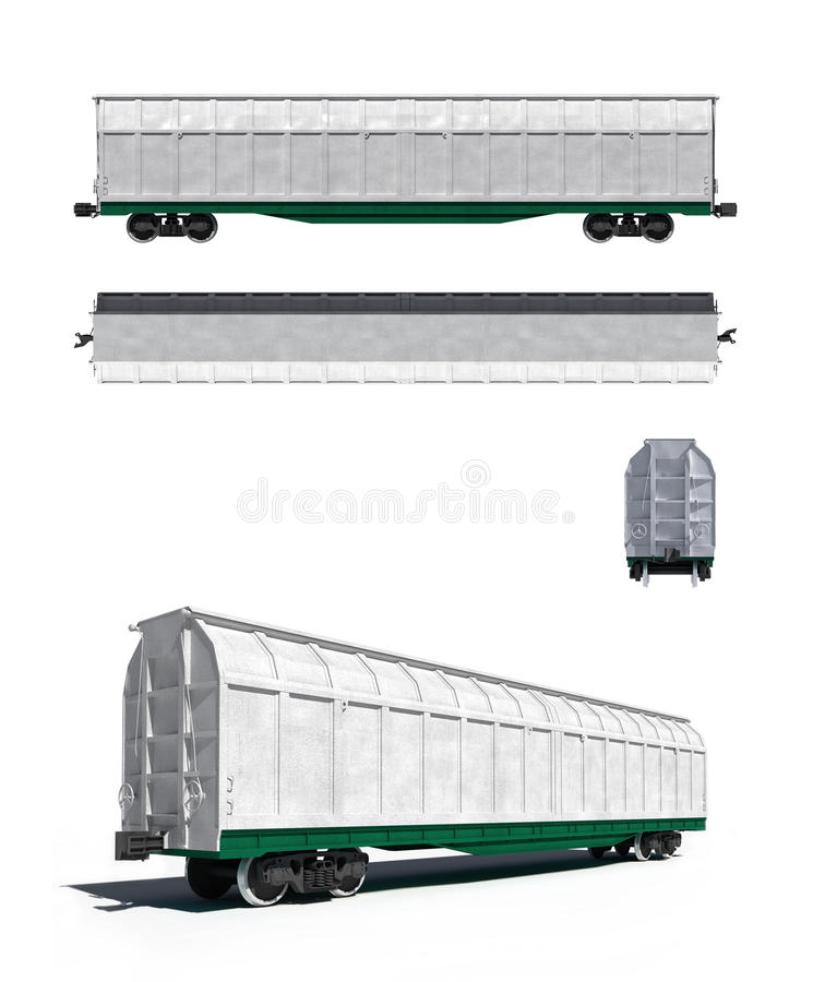 Free White Carriage: Projections And Perspective View Royalty Free Stock Images - 17897969