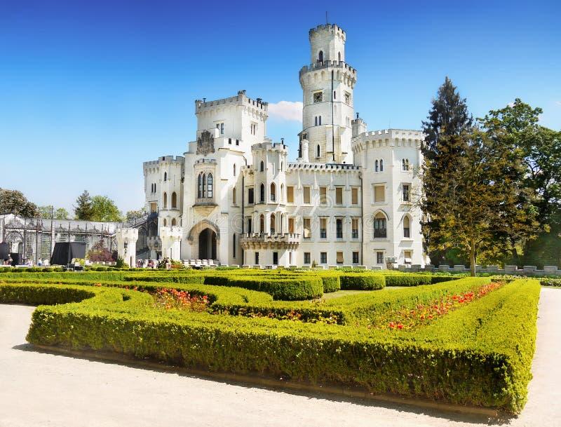 Romantic Castle Hluboka Landmark Fairytale Attraction royalty free stock photos