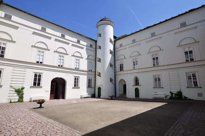 White castle Hradec nad Moravici. Beautiful White castle Hradec nad Moravici in nothern part of Czech republic stock image