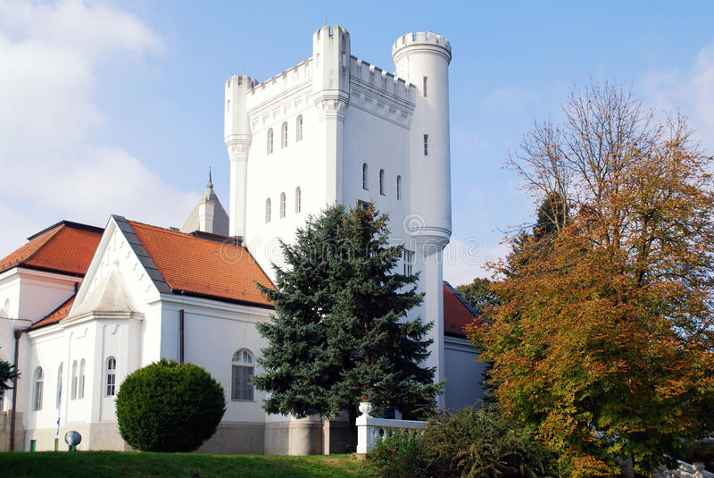 Download White Castle With Tower Royalty Free Stock Image - Image: 17266466