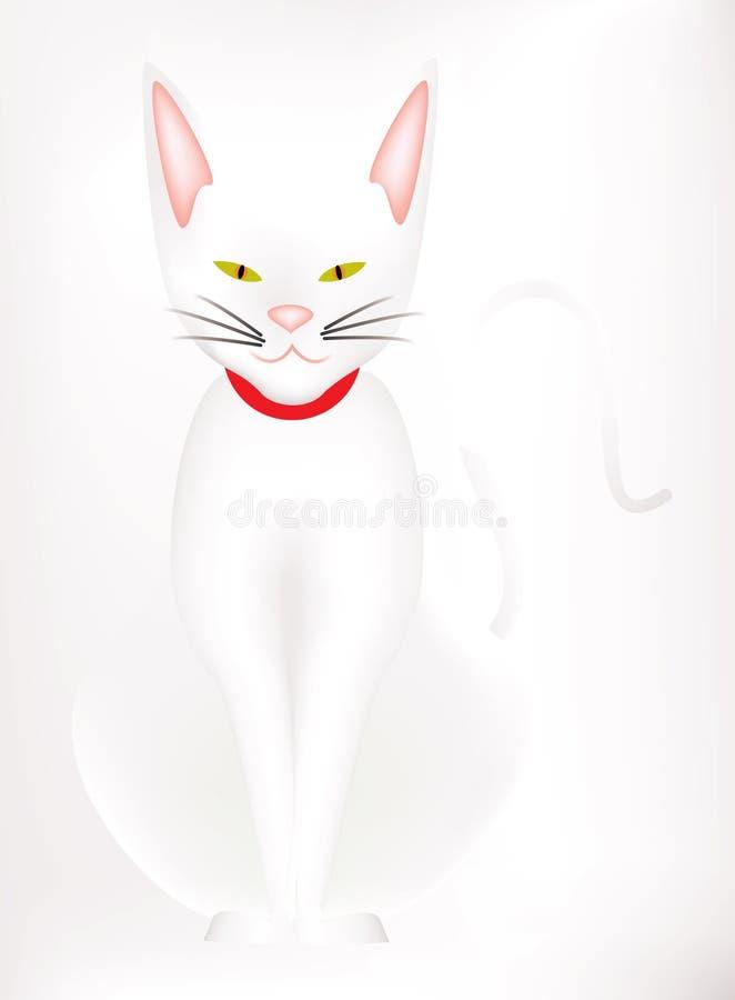 White cat stock illustration