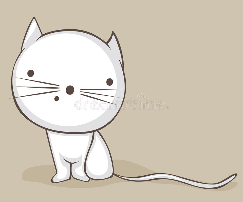 Download White cat stock vector. Image of small, kitty, kitten - 28087587