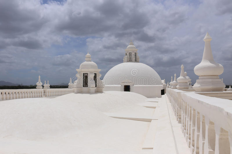 White Cathedral in Leon, Nicaragua royalty free stock images