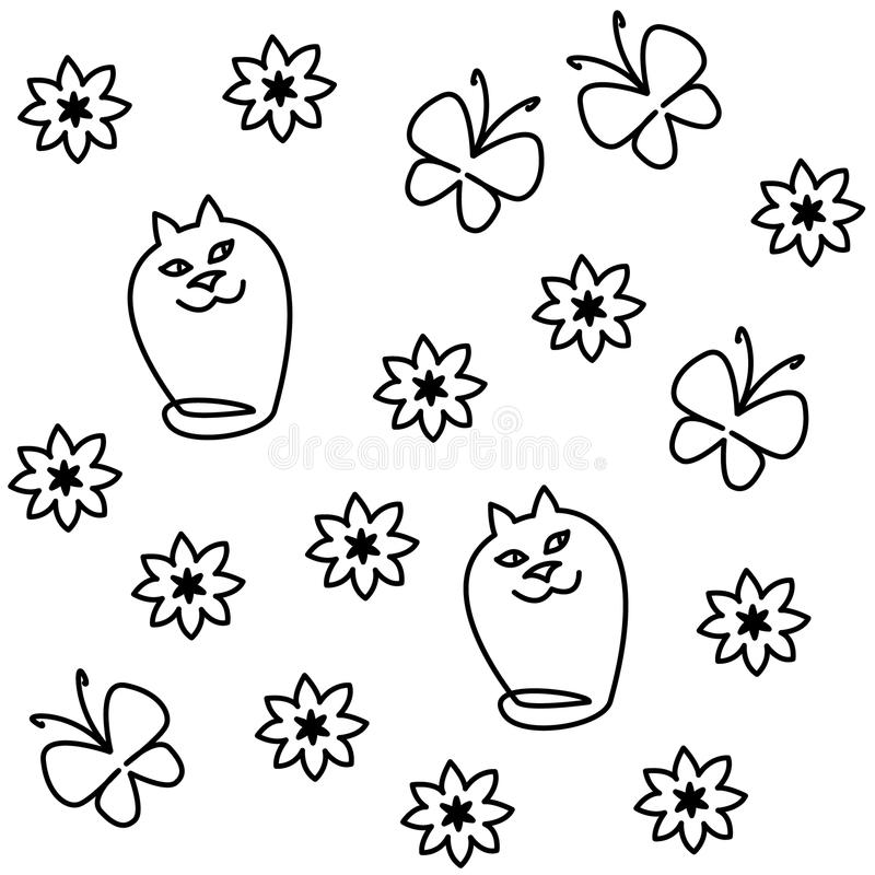 Download White cats stock vector. Image of cats, funny, background - 26475361