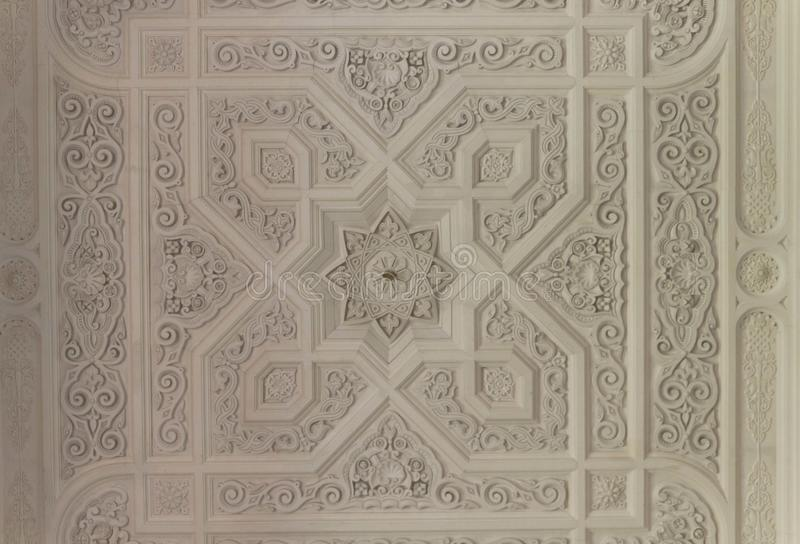 White ceiling detail royalty free stock photography