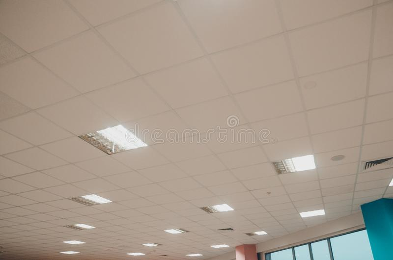 A ceiling with lamps royalty free stock photography