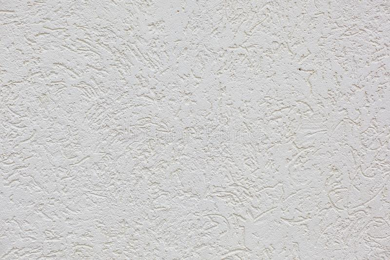 The white cement plaster wall horizontal background royalty free stock photo