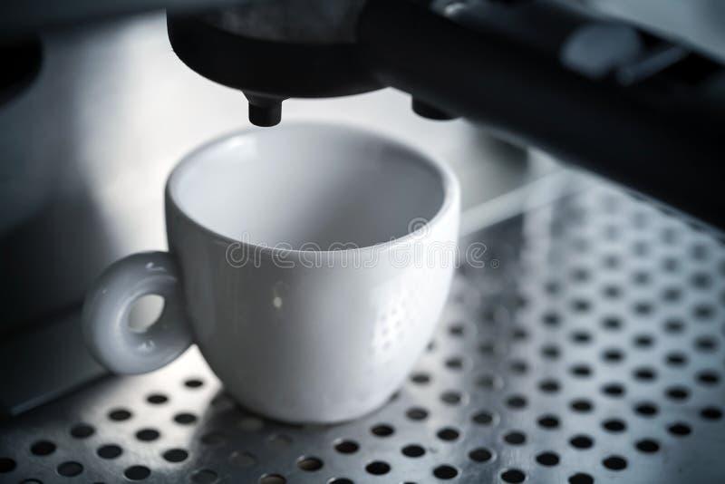 Download White Ceramic Cup In Espresso Coffee Machine Stock Photo - Image: 28335338