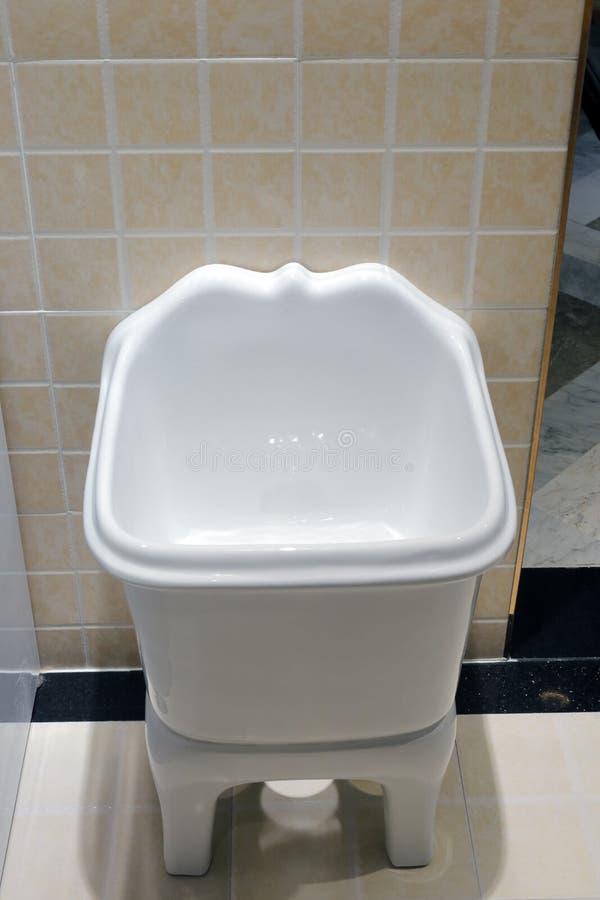 White ceramic sanitary ware. In bath room stock images
