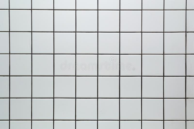 White ceramic square tile seamless pattern texture background stock image