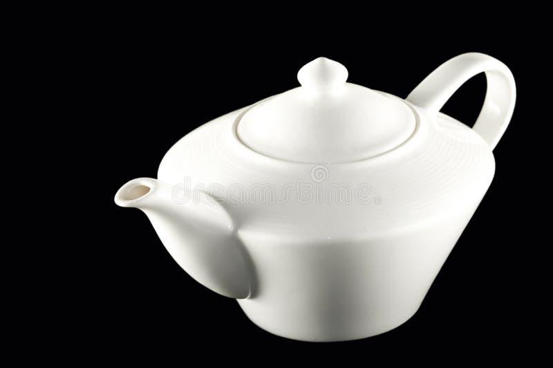 White ceramic teapot pitcher royalty free stock photo