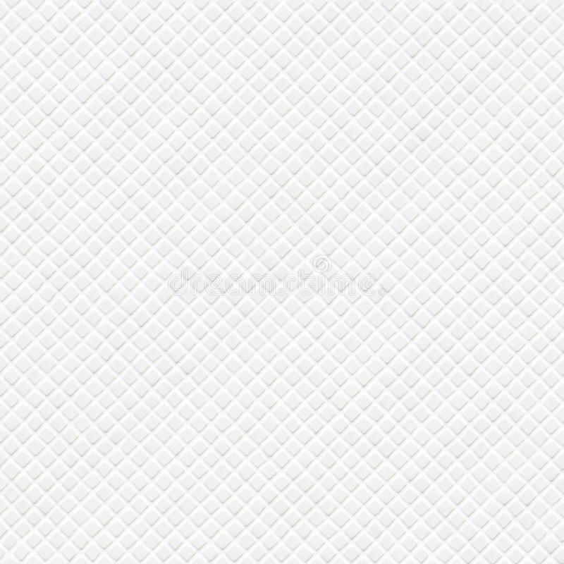 White ceramic tile little diamonds. Rhomboids in square form stock photo