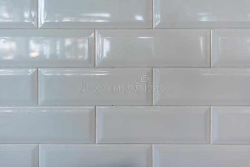 White ceramic tile pattern for texture or background stock image