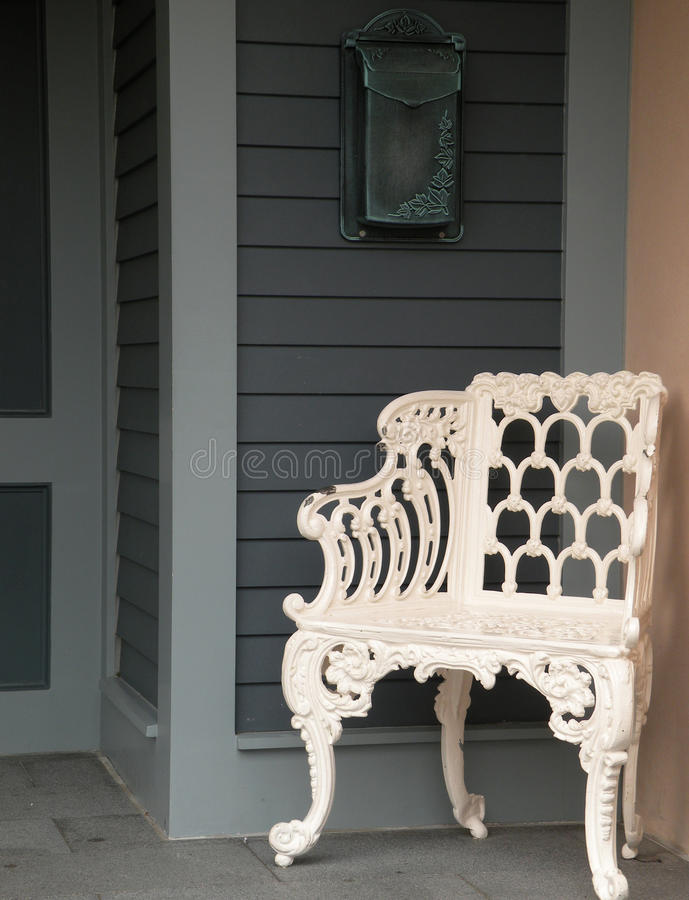 White chair stock photography