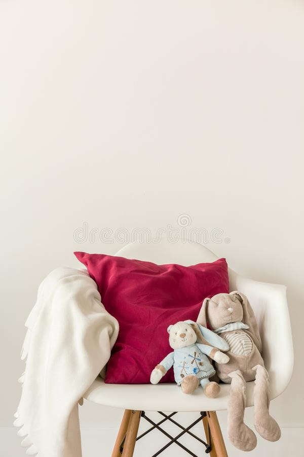 Free White Chair In Child S Room Stock Photo - 64595560
