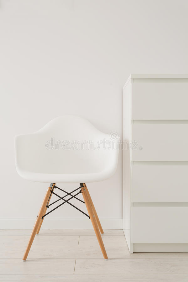 Free White Chair In Modern Design Stock Images - 52558844
