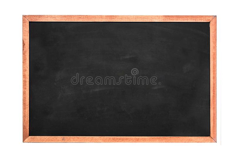 A white chalk on Empty Chalk board Background/Blank stock photography