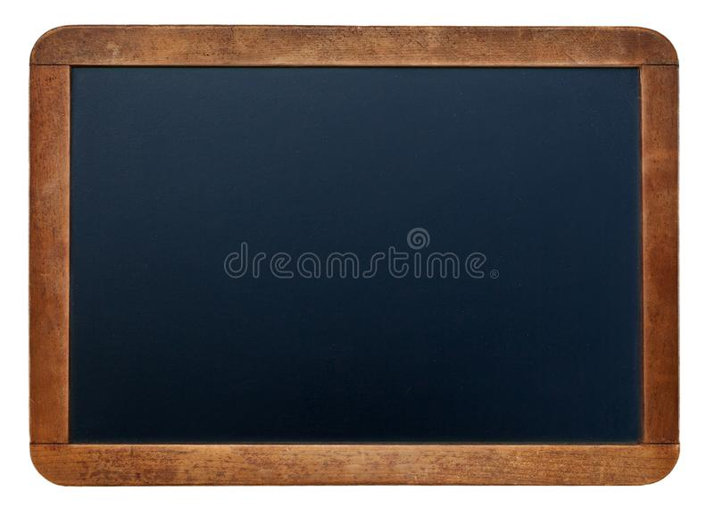 A white chalk on Empty Chalk board Background/Blank royalty free stock photos