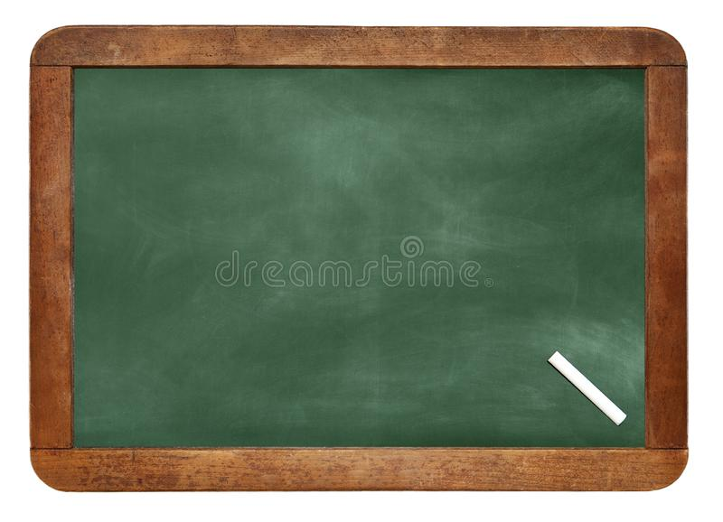 A white chalk on Empty Chalk board Background/Blank. stock image