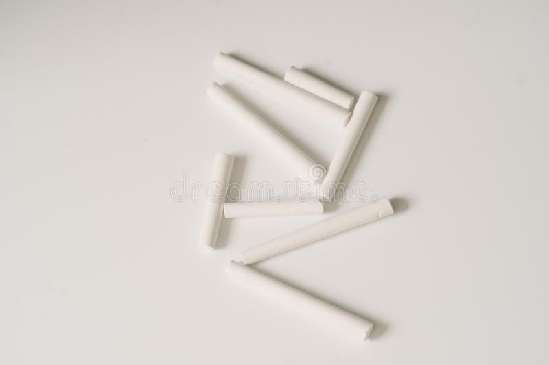 White Chalk Sticks stock photography