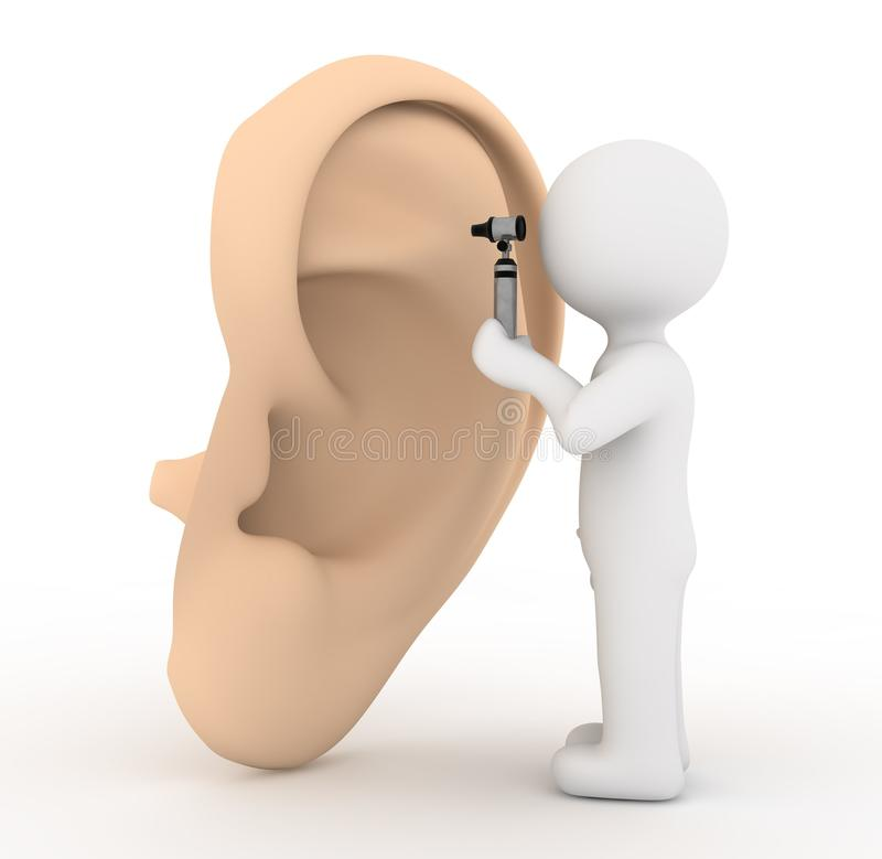 White Character And Ear Stock Image