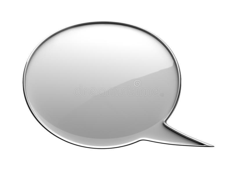 White chat bubble. 3d Render Illustration stock image