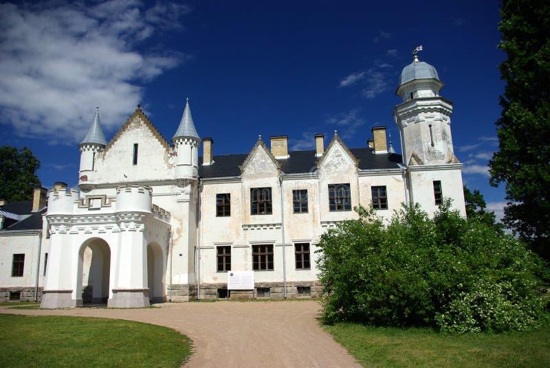 White chateau stock photos