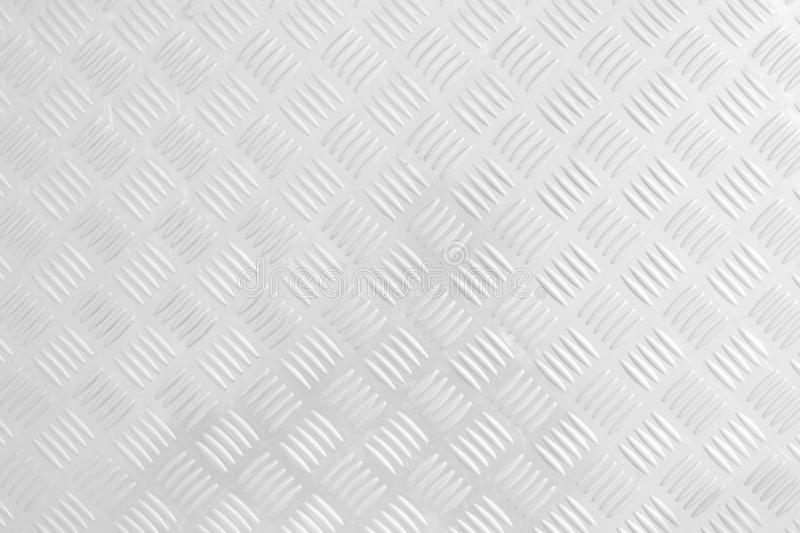white Checker Plate abstract floor metal stanless background stainless pattern stock photo