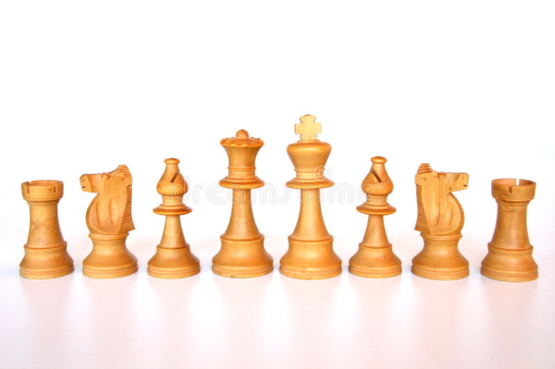 White chess army stock images