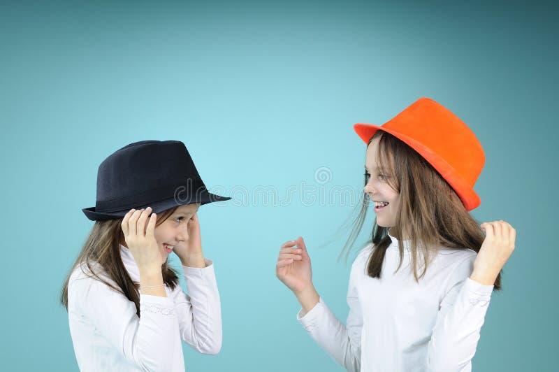 Download White children saluting stock image. Image of happy, girl - 13479567