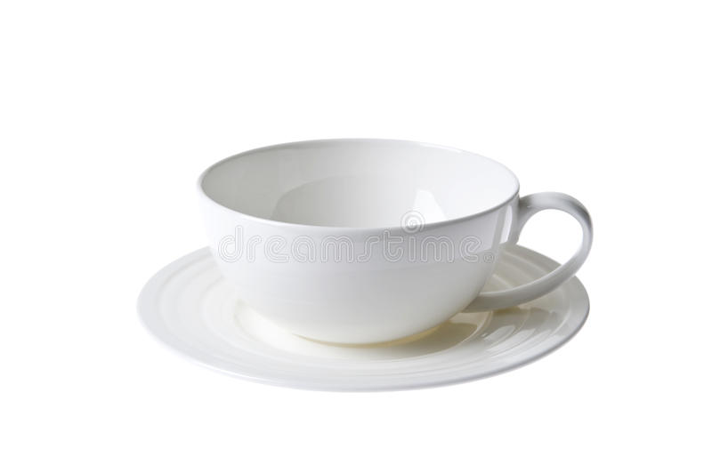 Download White China Porcelan Cup And Sauser Set Isolated Stock Image - Image: 13637631