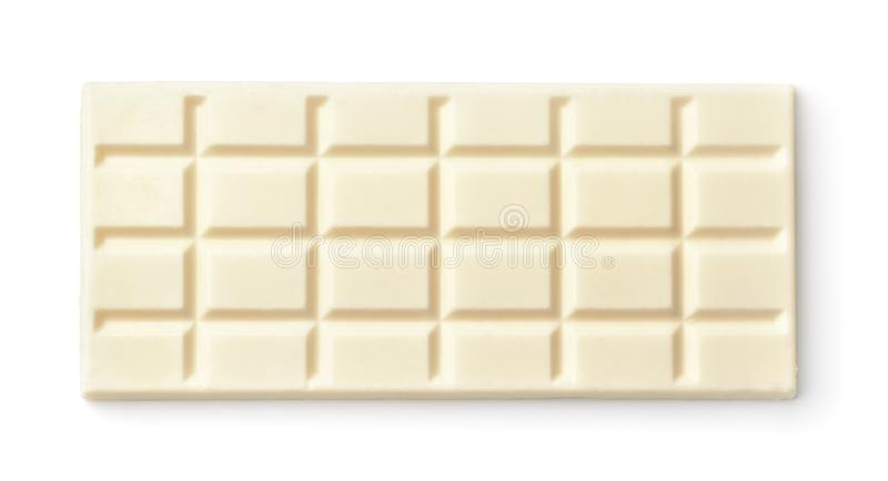 White chocolate bar royalty free stock photo