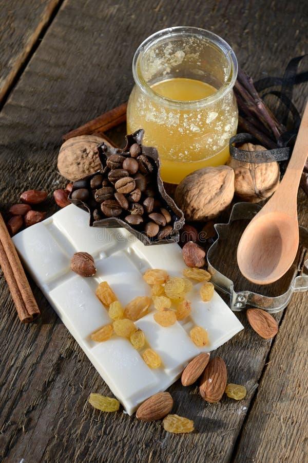 Download White Chocolate With Raisins Stock Photo - Image: 24144338