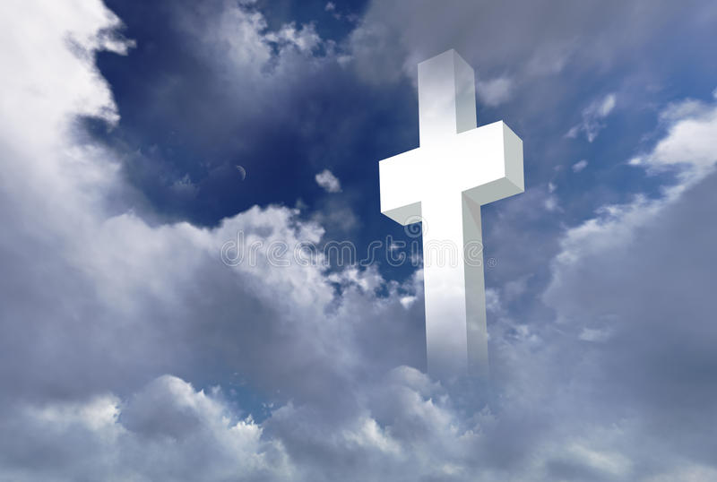 White christian cross vector illustration