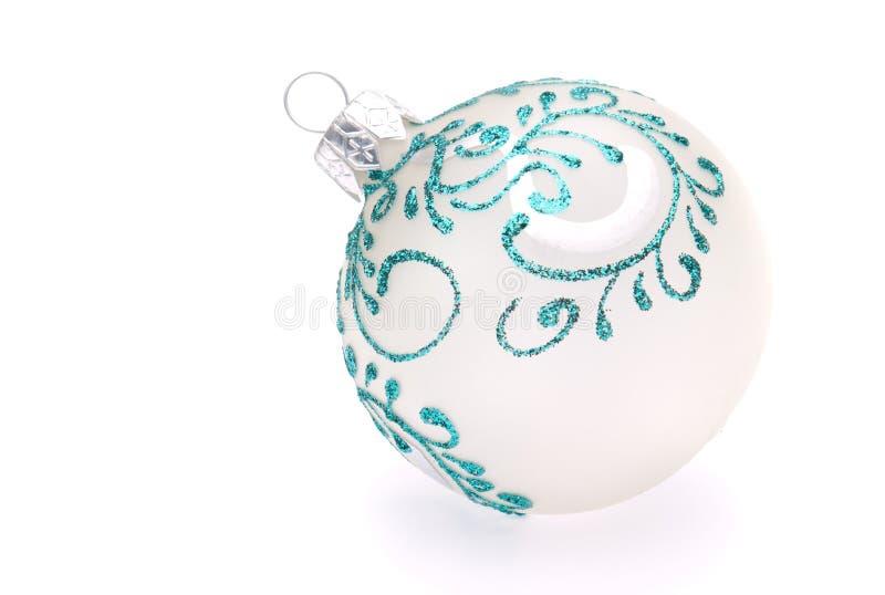 White christmas ball royalty free stock photos