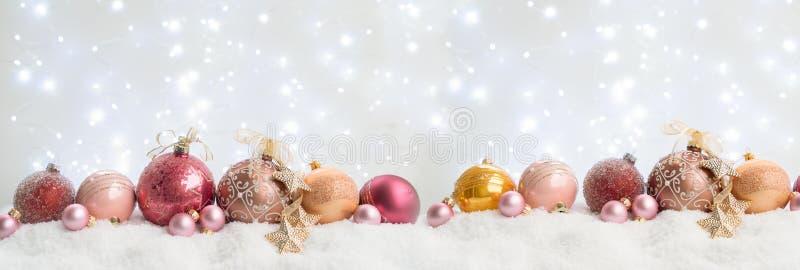 White Christmas com neve foto de stock royalty free