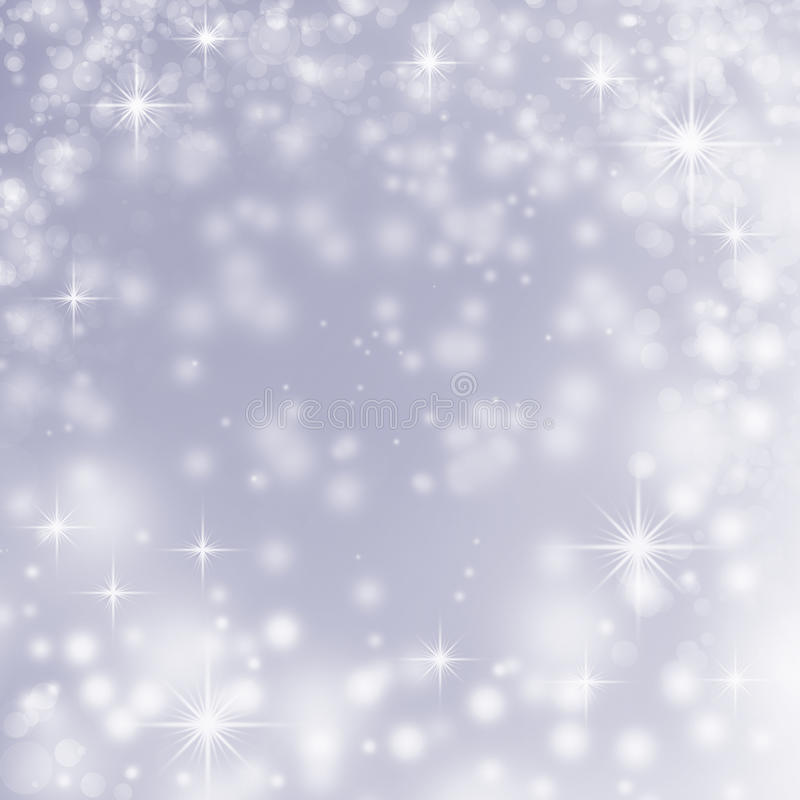 Free White Christmas Lights On Blue Abstract Background Stock Photography - 27559522