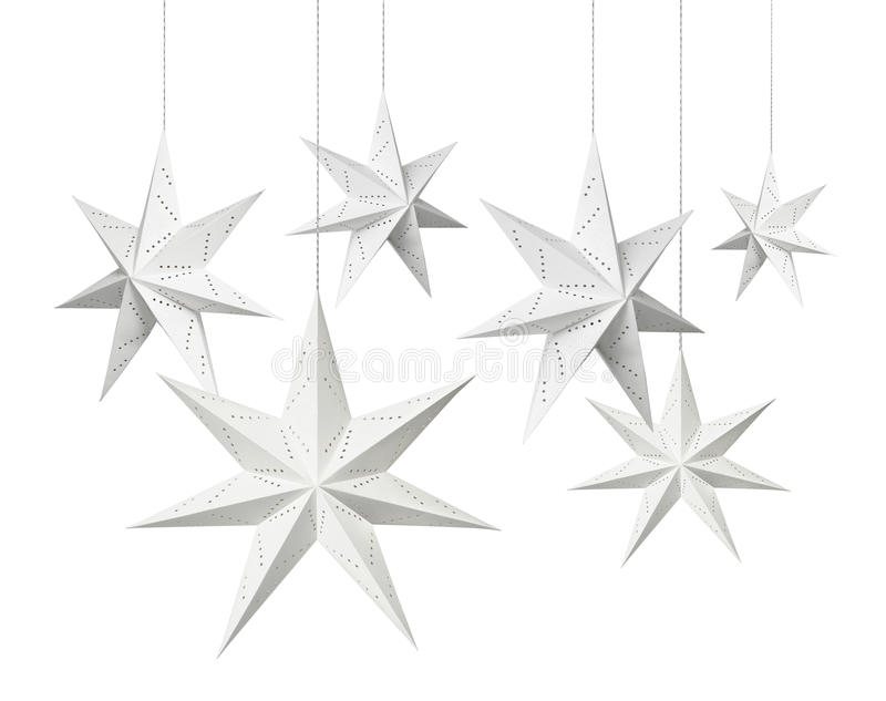 White Christmas Paper Stars Royalty Free Stock Photos - Image ...