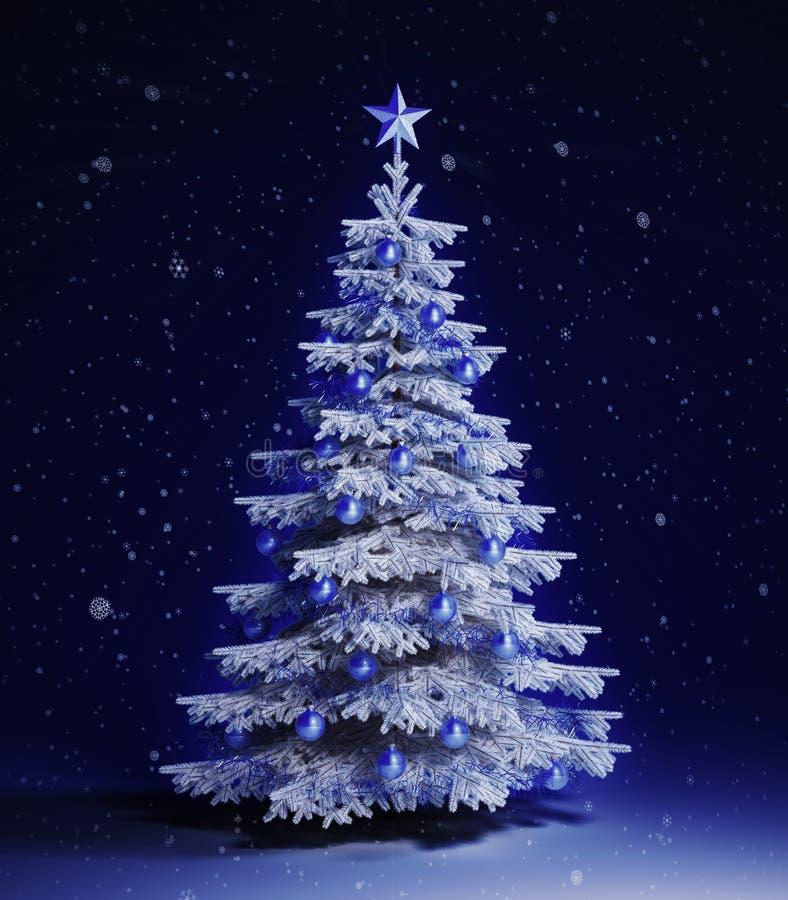 Download White christmas tree stock illustration. Illustration of christmas - 22279519