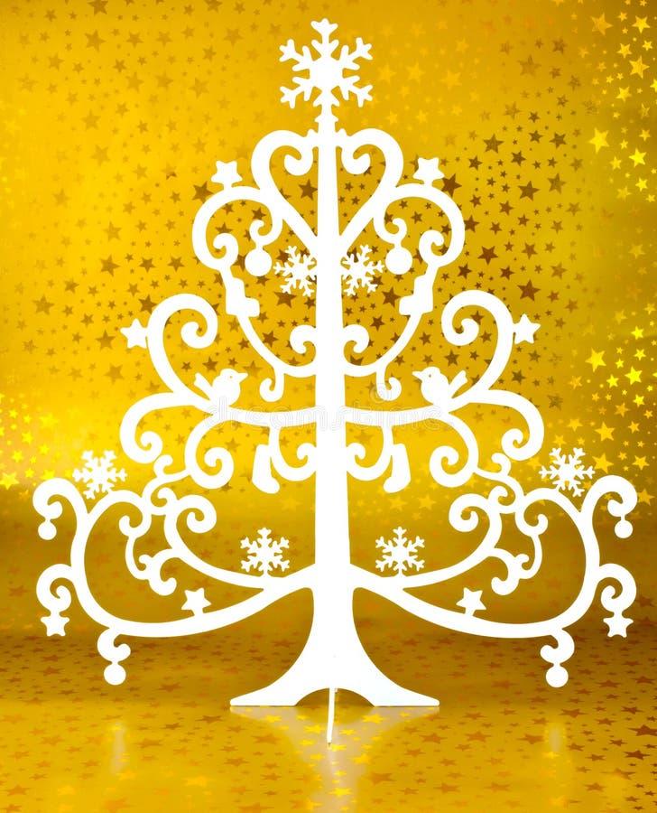 White Christmas Tree Royalty Free Stock Photography