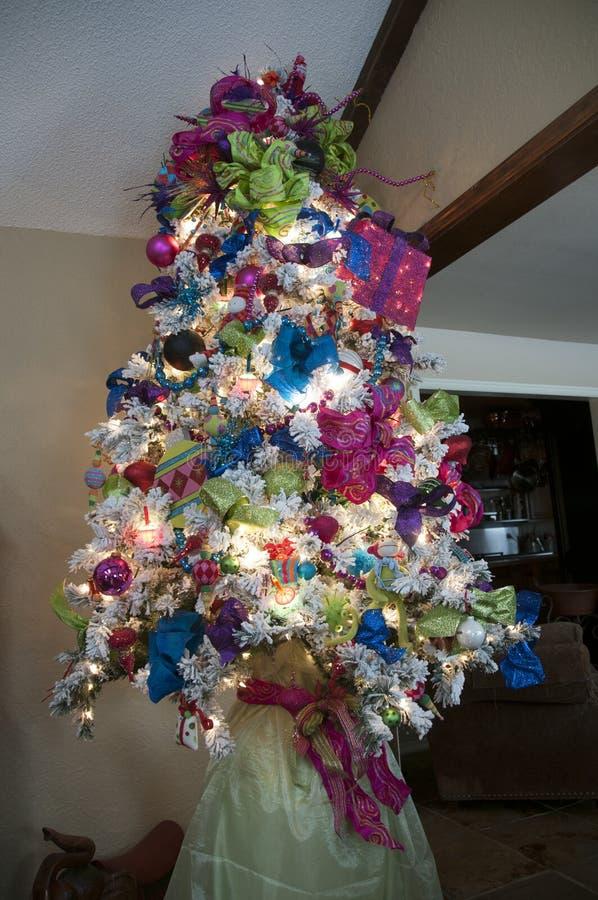 White Christmas Tree Stock Image Image Of White Blue