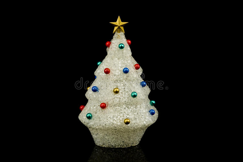 Download White Christmas Tree With Ornaments Stock Image - Image: 16965065