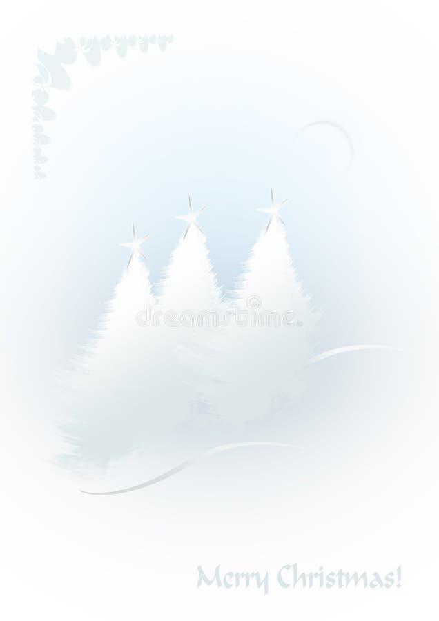 White Christmas trees vector illustration