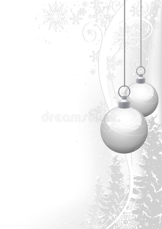 White Christmas and winter floral stock photos