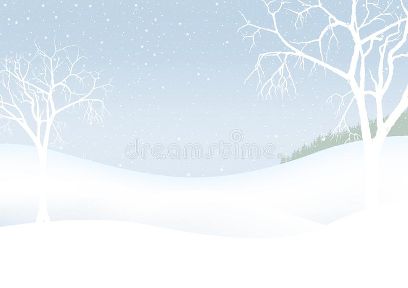 White Christmas - winter scenery stock illustration