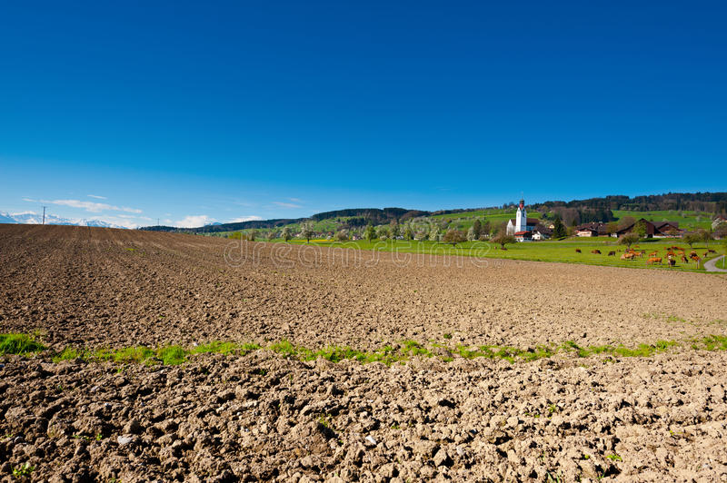Download White Church stock photo. Image of land, alps, arable - 26987378