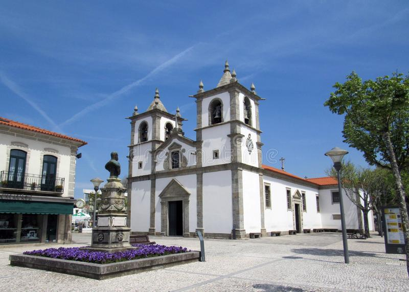 Church on a Camino Portuguese costal way of Saint James way in Portugal stock photos