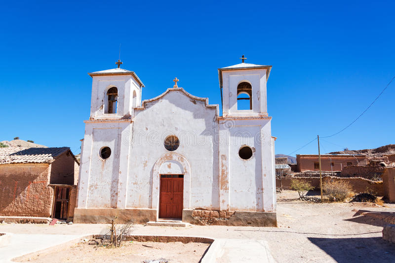 Download White Church in Chacopampa stock photo. Image of bolivia - 43326568