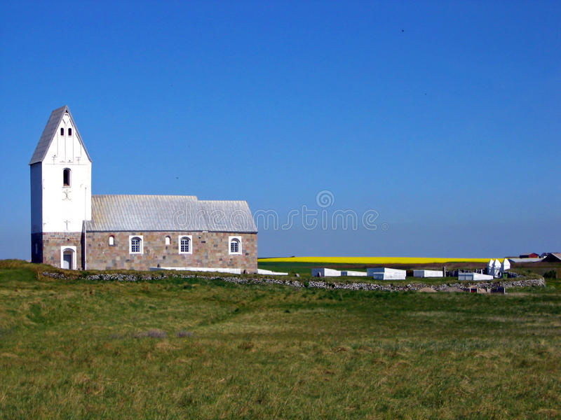 Download White Church In Denmark, Europe Royalty Free Stock Photography - Image: 12900167