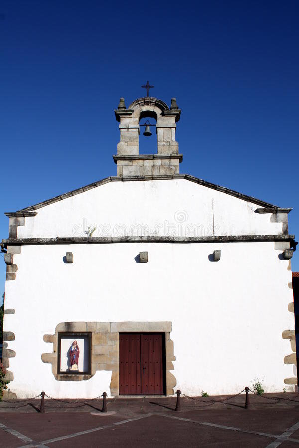 White church in South-West-France royalty free stock photo